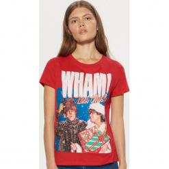 Koszulka Wham! - Czerwony. Czerwone t-shirty damskie marki Cropp, l. Za 49,99 zł.