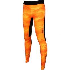 Reebok Spodnie damskie One Series ACTIVChill Compression Camo Tight pomarańczowe r. L (AO1038). Szare spodnie sportowe damskie marki Reebok, l, z dzianiny, casualowe, z okrągłym kołnierzem. Za 135,11 zł.