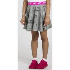 Spódniczki dziewczęce z falbankami: Spódniczka dresowa dla małych dziewczynek JSPUD102 - szary melanż