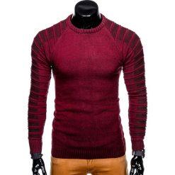 SWETER MĘSKI E138 - BORDOWY. Zielone swetry klasyczne męskie marki Ombre Clothing, na zimę, m, z bawełny, z kapturem. Za 49,00 zł.