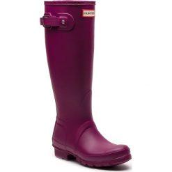 Kalosze HUNTER - Org Tall WFT1000RMA Violet. Fioletowe buty zimowe damskie Hunter, z kauczuku. W wyprzedaży za 389,00 zł.