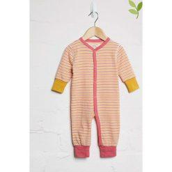 Śpiochy niemowlęce: Pajacyk w kolorze czerwono-żółtym