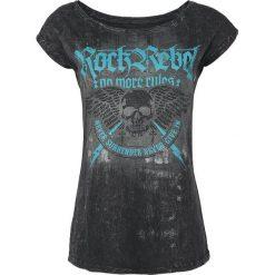 Rock Rebel by EMP All In The Mind Koszulka damska czarny. Czarne bluzki asymetryczne Rock Rebel by EMP, xl, z nadrukiem, rockowe. Za 99,90 zł.