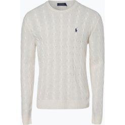 Polo Ralph Lauren - Męski sweter z wełny merino z dodatkiem kaszmiru, beżowy. Brązowe swetry klasyczne męskie marki Polo Ralph Lauren, l, z kaszmiru, polo. Za 839,95 zł.