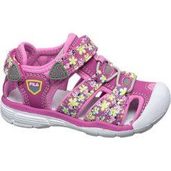 Sandały dziecięce Fila różowe. Czerwone sandały dziewczęce marki Fila, z gumy, na rzepy. Za 99,90 zł.