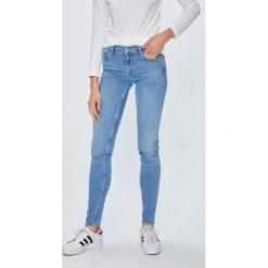 Levi's - Jeansy 710. Brązowe jeansy damskie rurki Levi's®, z obniżonym stanem. Za 399,90 zł.