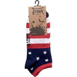 Skarpety Niskie Męskie FREAK FEET - SUSA-BLR Kolorowy. Niebieskie skarpetki męskie marki Freak Feet, w kolorowe wzory, z bawełny. Za 14,99 zł.
