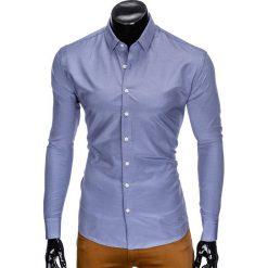 KOSZULA MĘSKA ELEGANCKA Z DŁUGIM RĘKAWEM K424 - NIEBIESKA. Niebieskie koszule męskie Ombre Clothing, m, z długim rękawem. Za 49,00 zł.