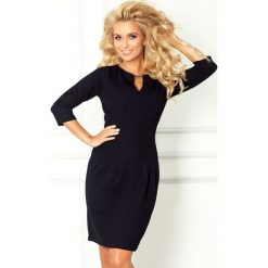 Sukienki: Alessandra Sukienka z klamerką – gruba lacosta – czarna