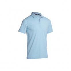Koszulka polo do golfa 500 męska. Niebieskie koszulki polo marki INESIS, l, z bawełny. Za 39,99 zł.