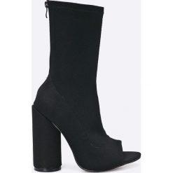 Answear - Botki Secret. Szare buty zimowe damskie marki ANSWEAR, z gumy. W wyprzedaży za 99,90 zł.