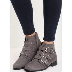 Szare Botki Locked Up. Szare buty zimowe damskie Born2be, przed kostkę, na płaskiej podeszwie. Za 69,99 zł.