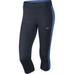 Legginsy sportowe damskie: Nike Legginsy Nike DF Essential Capri granatowe r.  S (645603 452)