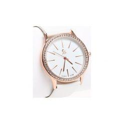 Zegarki damskie: Biało-Złoty Zegarek Rock This World