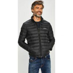 Calvin Klein - Kurtka puchowa. Czarne kurtki męskie pikowane marki Calvin Klein, z materiału. Za 899,90 zł.