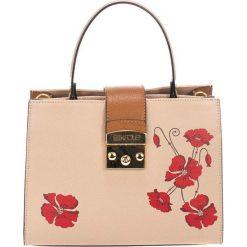 Torebki klasyczne damskie: Skórzana torebka w kolorze taupe – (S)26 x (W)32 x (G)13 cm
