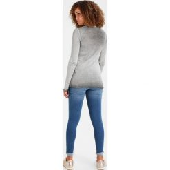 Bluzki asymetryczne: Rich & Royal NEW VINTAGE LONGSLEEVE Bluzka z długim rękawem grey melange