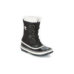 Śniegowce Sorel  WINTER CARNIVAL. Czarne buty zimowe damskie Sorel. Za 400,00 zł.