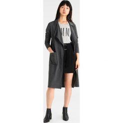 Bomberki damskie: Noisy May NMLUCKY  Płaszcz wełniany /Płaszcz klasyczny dark grey