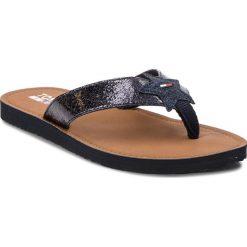 Chodaki damskie: Japonki TOMMY JEANS - Glitter Beach Sandal EN0EN00065 Midnight 403