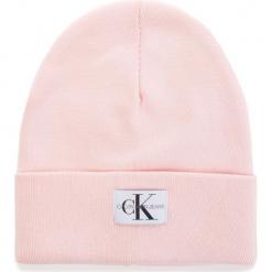 Czapka CALVIN KLEIN - J Monogram Beanie W K40K400856 637. Czerwone czapki zimowe damskie Calvin Klein, z bawełny. Za 179,00 zł.