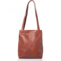 Skórzana torebka w kolorze jasnobrązowym - 31 x 35 x 10 cm. Brązowe torebki klasyczne damskie I MEDICI FIRENZE, w paski, z materiału. W wyprzedaży za 478,95 zł.