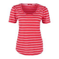S.Oliver T-Shirt Damski W Paski, 34 Czerwony. Czerwone t-shirty damskie marki S.Oliver, s, w paski, ze lnu. W wyprzedaży za 69,00 zł.