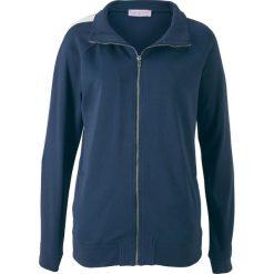 Bluza rozpinana z długim rękawem, z kolekcji Maite Kelly bonprix ciemnoniebiesko-biały. Niebieskie bluzy rozpinane damskie marki bonprix, z długim rękawem, długie. Za 79,99 zł.