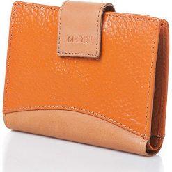 Portfele męskie: Skórzany portfel w kolorze pomarańczowym – 13 x 10,5 x 2,5 cm