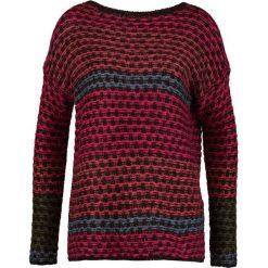 Swetry klasyczne damskie: Sisley Sweter dark red