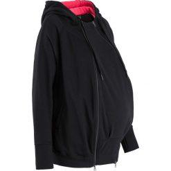 Bluza ciążowa rozpinana, z wstawką niemowlęcą bonprix czarny. Czarne bluzy ciążowe marki bonprix. Za 89,99 zł.