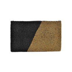 Puzderka: Kopertówka w kolorze czarno-złotym – (D)25 x (S)15 cm