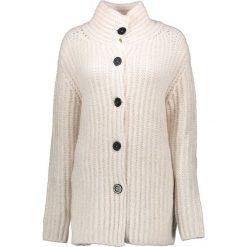 Swetry rozpinane damskie: Sweter rozpinany w kolorze kremowym