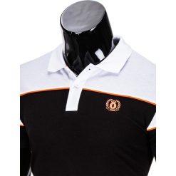 KOSZULKA MĘSKA POLO BEZ NADRUKU S832 - CZARNA. Szare koszulki polo marki Lacoste, z gumy, na sznurówki, thinsulate. Za 29,00 zł.