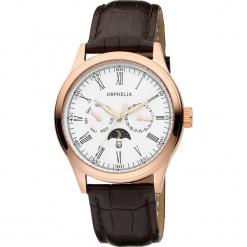 Zegarek kwarcowy w kolorze brązowo-biało-różowozłotym. Brązowe, analogowe zegarki męskie Esprit Watches, ze stali. W wyprzedaży za 272,95 zł.