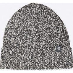 Marc O'Polo - Czapka. Szare czapki zimowe męskie marki Marc O'Polo, na zimę, z bawełny. W wyprzedaży za 129,90 zł.