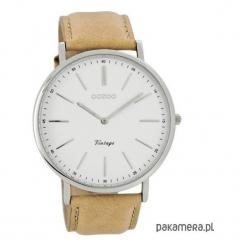 Zegarek OOZOO C7305 camel/white. Białe zegarki męskie Pakamera. Za 289,00 zł.