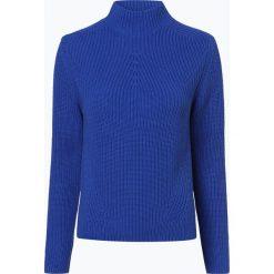 Marie Lund - Sweter damski – Coordinates, niebieski. Niebieskie swetry klasyczne damskie Marie Lund, xxl, z dzianiny, ze stójką. Za 229,95 zł.