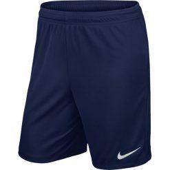 Nike Spodenki męskie Park II Knit Boys  granatowe r. XS. Białe spodenki sportowe męskie marki Adidas, l, z jersey, do piłki nożnej. Za 39,00 zł.