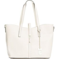 Torebki klasyczne damskie: Skórzany shopper bag w kolorze beżowym – 40 x 27 x 14 cm