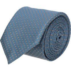 Krawaty męskie: krawat platinum niebieski classic 206
