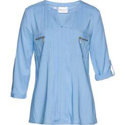 Bluzka bonprix jasnoniebieski. Niebieskie bluzki z odkrytymi ramionami marki bonprix. Za 89,99 zł.
