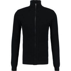 Swetry rozpinane męskie: Solid GANADA Kardigan black