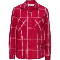 Bluzki damskie: Długa bluzka w kratę bonprix ciemnoczerwony w kratę