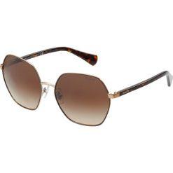 RALPH Ralph Lauren Okulary przeciwsłoneczne gradient brown. Brązowe okulary przeciwsłoneczne damskie aviatory RALPH Ralph Lauren. Za 459,00 zł.