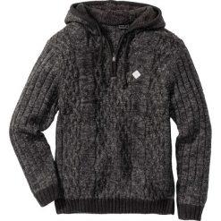 Sweter z kapturem Slim Fit bonprix szary melanż. Czarne swetry klasyczne męskie marki Reserved, m, z kapturem. Za 129,99 zł.