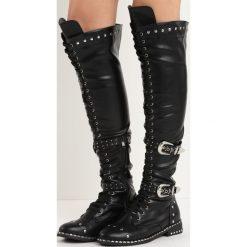 Czarne Kozaki Tainted Love. Czarne buty zimowe damskie Born2be, przed kolano, na wysokim obcasie, na obcasie. Za 159,99 zł.