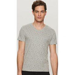 T-shirty męskie: T-shirt z mikrowzorem – Jasny szar
