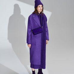 Płaszcz z domieszką wełny - Fioletowy. Fioletowe płaszcze damskie pastelowe Reserved, l, z wełny. Za 399,99 zł.