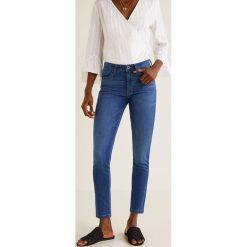 Mango - Jeansy Elektra. Niebieskie jeansy damskie rurki marki Mango, z bawełny. Za 129,90 zł.